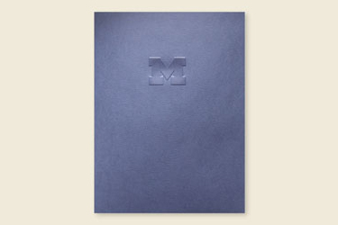 Block M Pocket Folder
