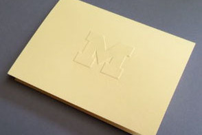 Block M Note Cards (package of 10)